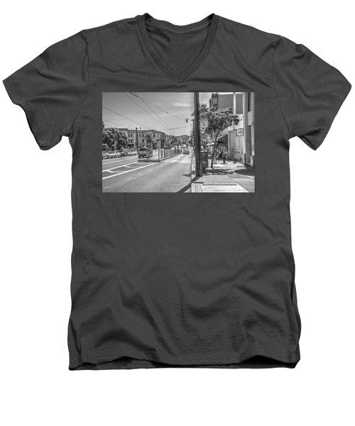 Church St At Market St San Francisco Men's V-Neck T-Shirt