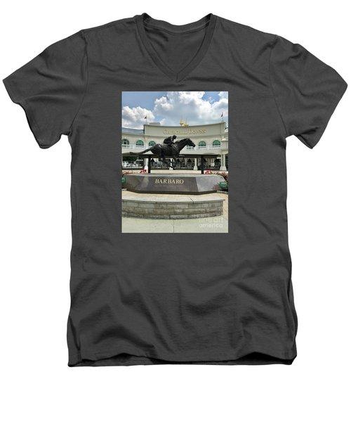 Churchill Downs Barbaro 2 Men's V-Neck T-Shirt