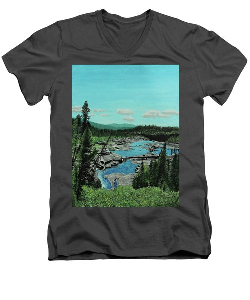 Churchill River Men's V-Neck T-Shirt