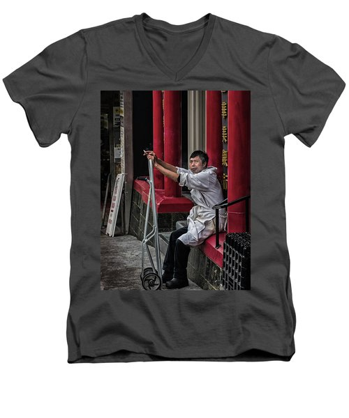 Cigarette Break Men's V-Neck T-Shirt