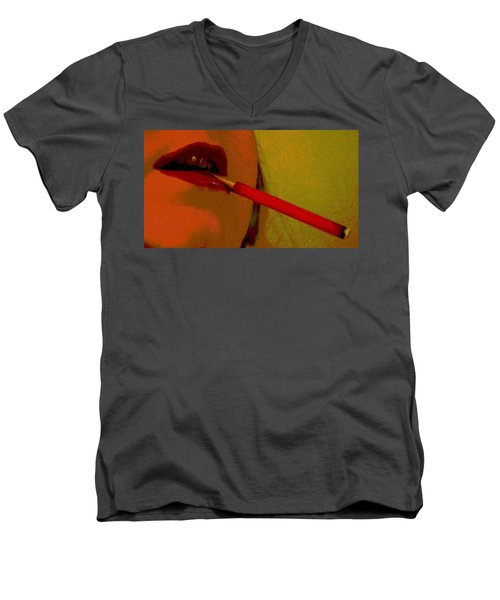Cigarette Break Men's V-Neck T-Shirt
