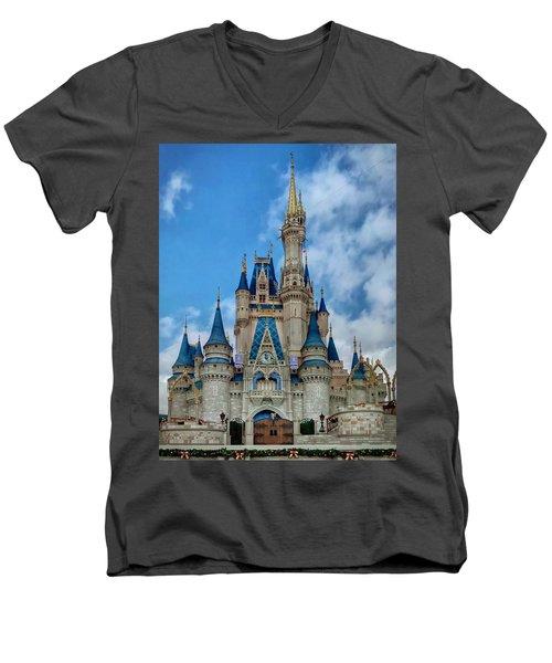 Cinderella Castle Men's V-Neck T-Shirt