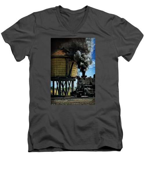 Men's V-Neck T-Shirt featuring the photograph Cinders And Water by Ken Smith
