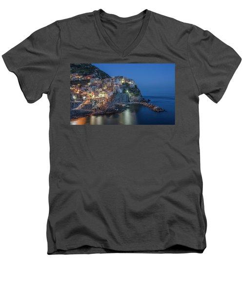 Cinque Terre - Manarola Men's V-Neck T-Shirt