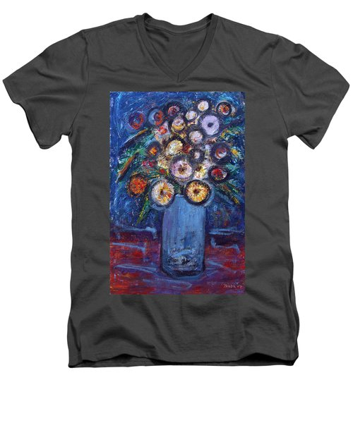 Circle Of Flowers Men's V-Neck T-Shirt