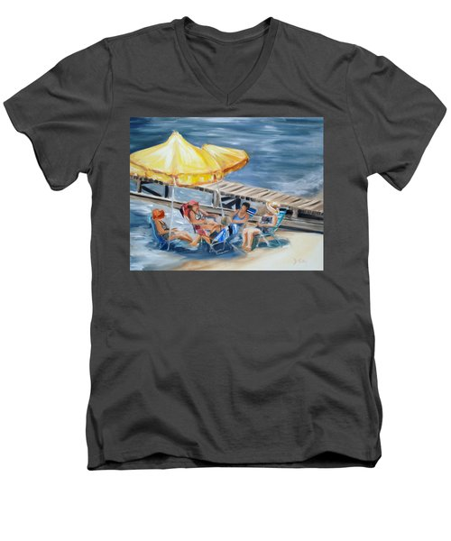 Circle Of Friends Men's V-Neck T-Shirt by Donna Tuten