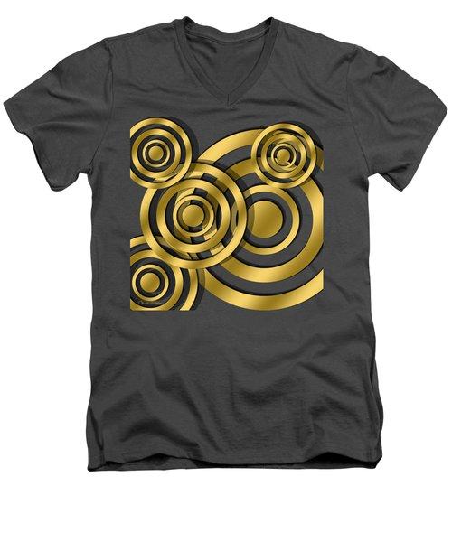 Circles - Chuck Staley Design Men's V-Neck T-Shirt