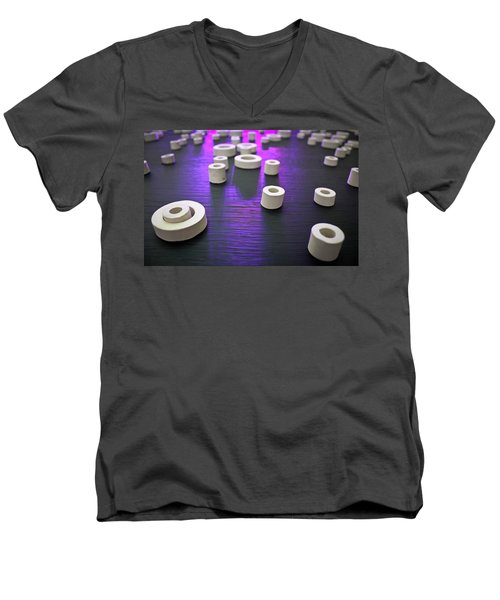 Men's V-Neck T-Shirt featuring the photograph Circles Of Inspiration by Bobby Villapando