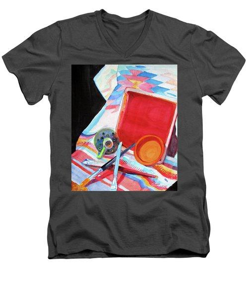 Circles, Squares And Shadows Men's V-Neck T-Shirt