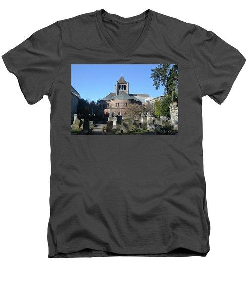 Circular Congregational Church Men's V-Neck T-Shirt by Gordon Mooneyhan