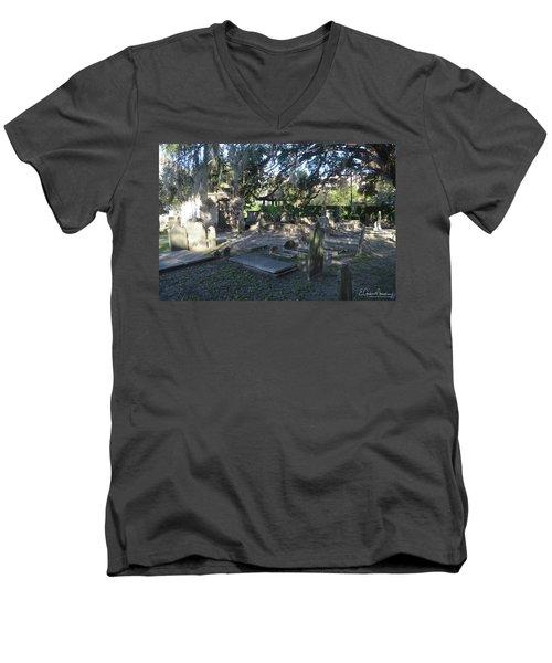 Circular Congregational Graveyard 1 Men's V-Neck T-Shirt by Gordon Mooneyhan