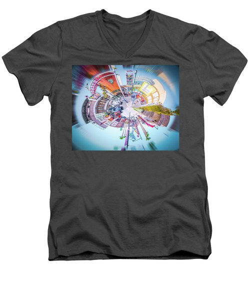 Circular Experience Men's V-Neck T-Shirt by Mark Dunton