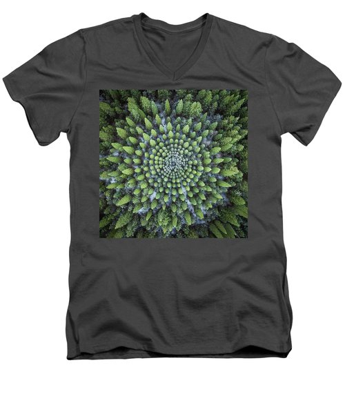 Circular Symmetry Men's V-Neck T-Shirt