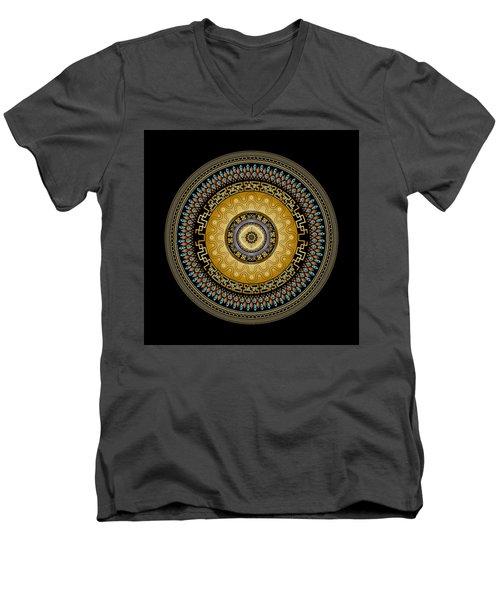 Men's V-Neck T-Shirt featuring the digital art Circularium No 2642 by Alan Bennington