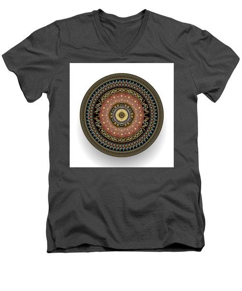Men's V-Neck T-Shirt featuring the digital art Circularium No 2645 by Alan Bennington