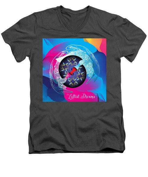 Circularium No 2719 Men's V-Neck T-Shirt by Alan Bennington