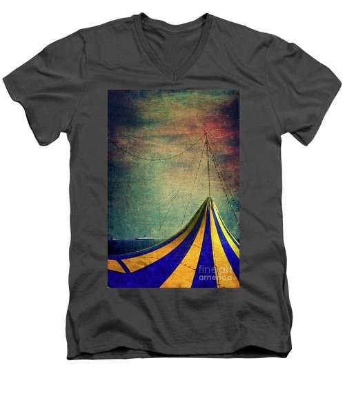 Circus With Distant Ships II Men's V-Neck T-Shirt by Silvia Ganora