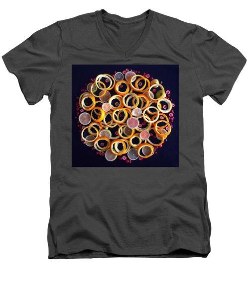 Citrus Delight Men's V-Neck T-Shirt