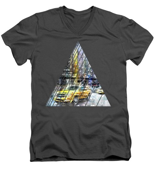 City-art Nyc Collage Men's V-Neck T-Shirt
