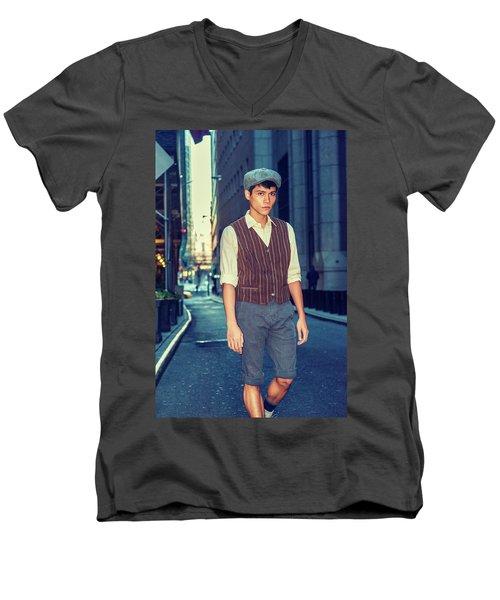 City Boy Men's V-Neck T-Shirt