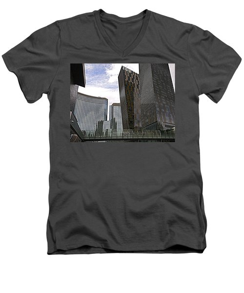 City Center At Las Vegas Men's V-Neck T-Shirt