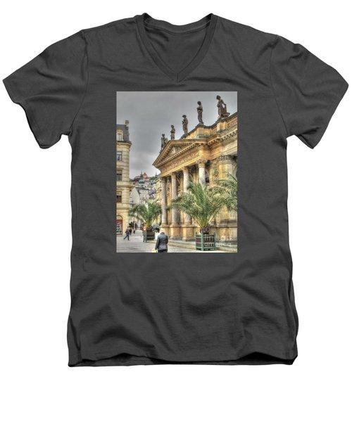 Karlovy Vary Chehia Men's V-Neck T-Shirt by Yury Bashkin