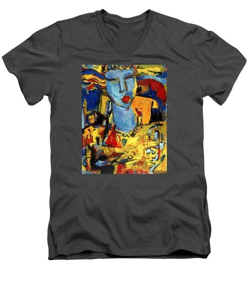 City Chick Men's V-Neck T-Shirt