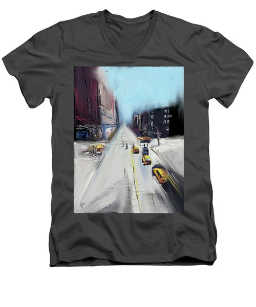 City Contrast Men's V-Neck T-Shirt