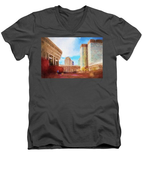 City Hall At Government Center Men's V-Neck T-Shirt