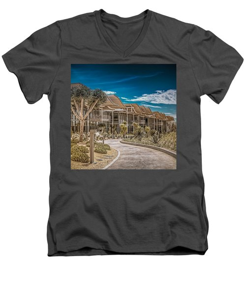 Newport Beach California City Hall Men's V-Neck T-Shirt