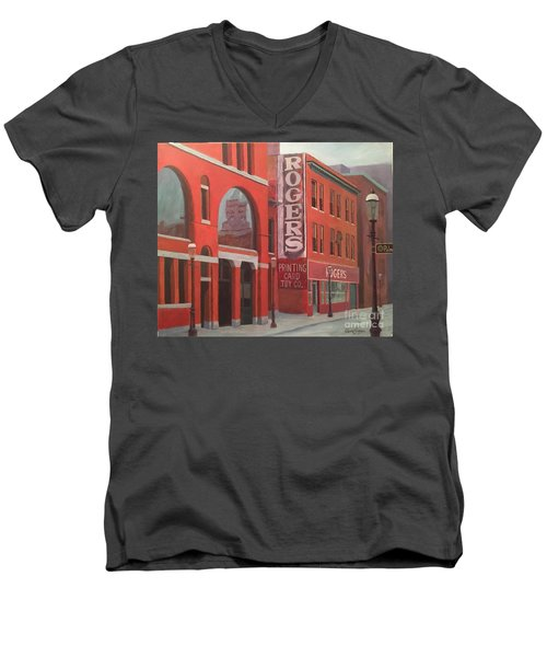 City Hall Reflection Men's V-Neck T-Shirt