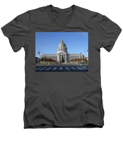 City Hall Men's V-Neck T-Shirt