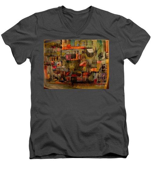 Evening Out Men's V-Neck T-Shirt by Nancy Kane Chapman