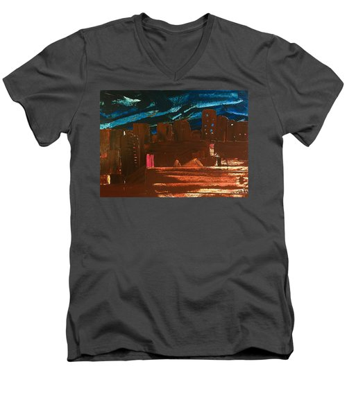City Lights Men's V-Neck T-Shirt