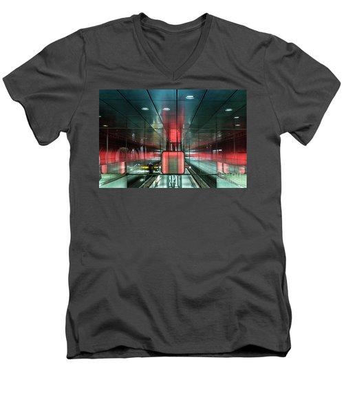 City Metro Station Hamburg Men's V-Neck T-Shirt