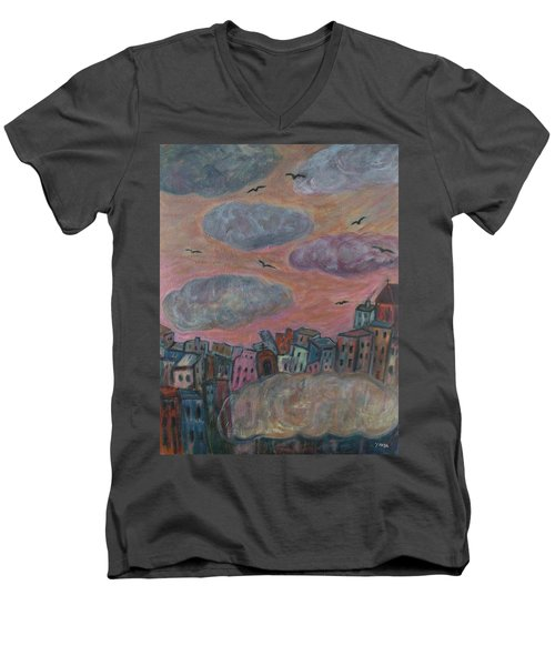 City Of Clouds Men's V-Neck T-Shirt