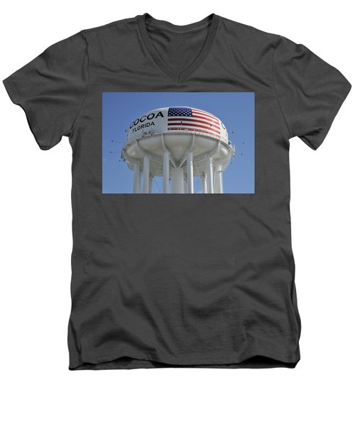 City Of Cocoa Water Tower Men's V-Neck T-Shirt