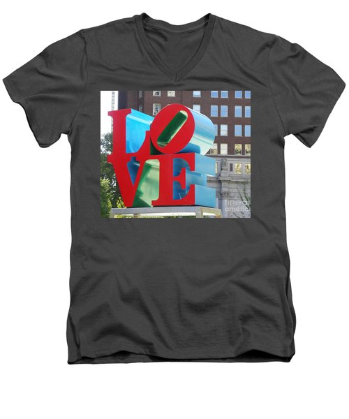 City Of Love Men's V-Neck T-Shirt