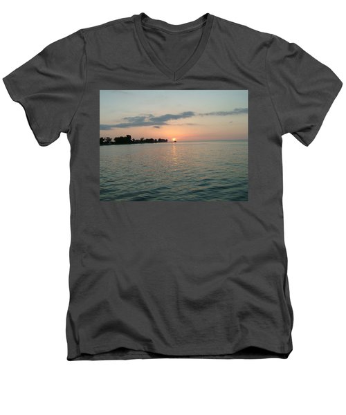 City Pier Holmes Beach Bradenton Florida Men's V-Neck T-Shirt