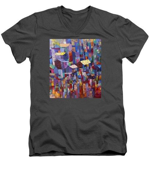 City Scape 1 Men's V-Neck T-Shirt by Ronex Ahimbisibwe