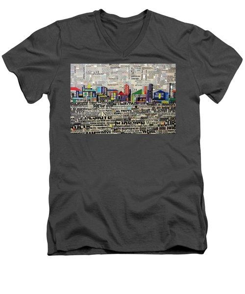 City Scape Men's V-Neck T-Shirt