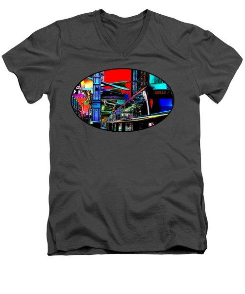 City Tansit Pop Art Men's V-Neck T-Shirt