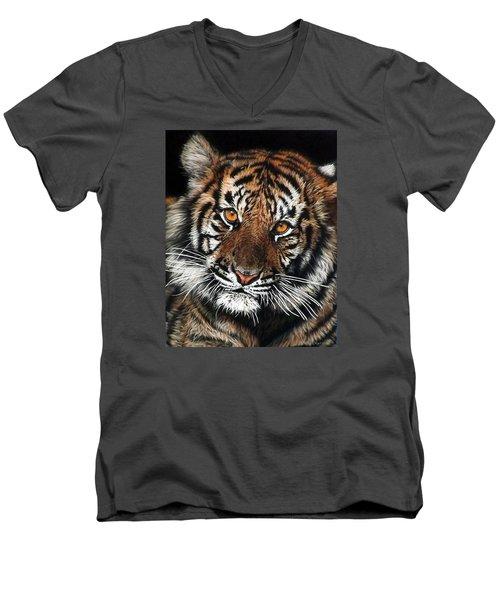CJ Men's V-Neck T-Shirt by Linda Becker