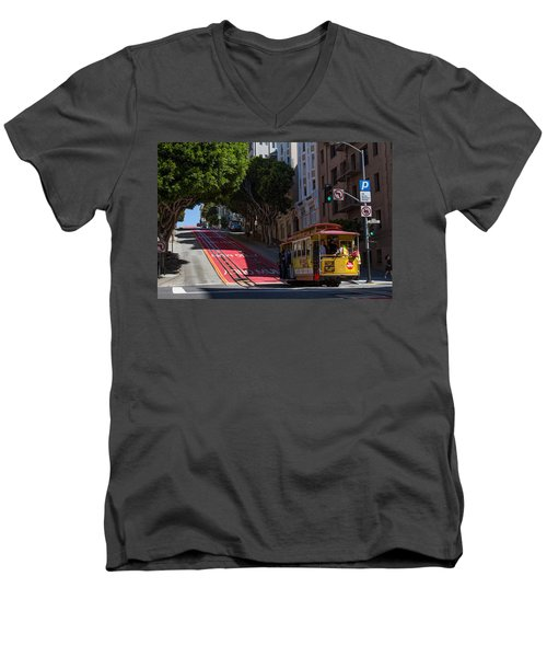 Clang Clang Goes The Cable Car Men's V-Neck T-Shirt