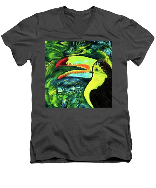Clara's Toucan Men's V-Neck T-Shirt