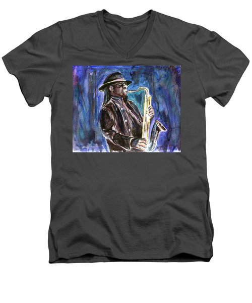 Clarence Clemons Men's V-Neck T-Shirt