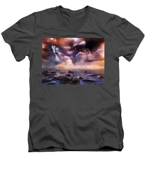 Clash Of The Clouds Men's V-Neck T-Shirt