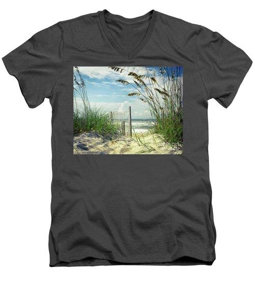To The Beach Sea Oats Men's V-Neck T-Shirt