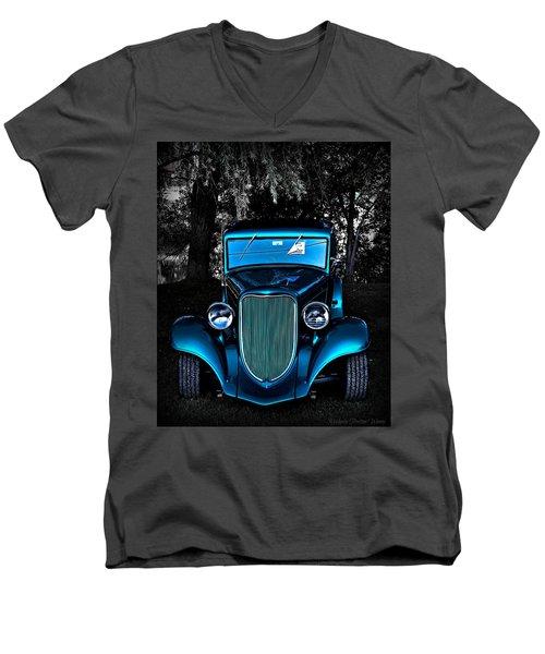 Classic Blue Men's V-Neck T-Shirt
