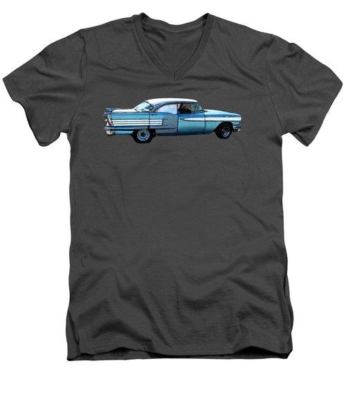 Classic Blue Motor Art Men's V-Neck T-Shirt